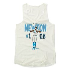 Women's Cam Newton Position L Tank Top from 500 LEVEL. This Cam Newton Tank Top comes in multiple sizes and colors.
