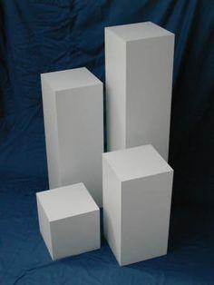 Plinths UK - 40 x 40 x tall Square White Pedestal Bag Display, Display Boxes, Display Case, Display Pedestal, Wood Pedestal, Sculpture Stand, Wood Plant Stand, School Displays, Museum Displays