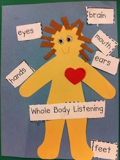 Whole Body Listening- A great activity for the youngest learners who are learning to listen and follow directions.