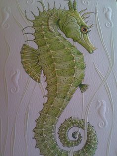 Greeting Card by Ching Walters: Seahorse [Purchased at the California Science Center Gift Shop]