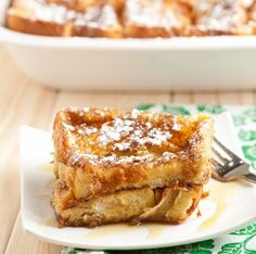 """You know what they say, """"Everything is bigger in Texas."""" It's true. Texas toast, which is like white bread but bigger, adds a Texas twist to this oven baked French toast recipe. Texas French Toast Bake is flavored with brown sugar, vanilla, and cinnamon, so you might not even need maple syrup. Prepare it the night before so the toast soaks up all of the flavors. Then, just bake it in the morning and enjoy a wonderful breakfast."""