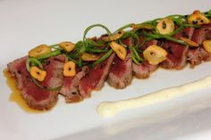 Saturday is generally beef night, it is usually a roast or a steak but last night was a beautiful piece of organic New Zealand eye fillet that would have b Beef Tataki, Asparagus, Sausage, Steak, Roast, Dining, Vegetables, Cooking, Recipes