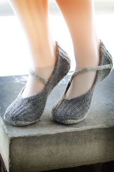 Knit slippers, now with absolutely adorable ankle straps. I am hopelessly smitten.