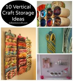 10 Vertical Storage Ideas for Craft Supplies - Dollar Store Crafts
