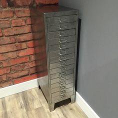 Vintage-Industrial-Stripped-Metal-15-Drawer-Filling-Cabinet