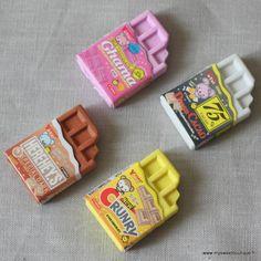 Jolies mini gommes tablettes de chocolat - by My Sweet Boutique
