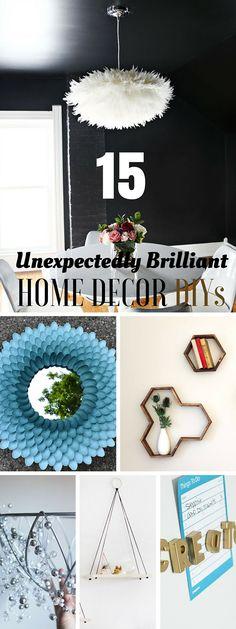 Check out 15 unexpectedly brilliant home decor DIYs @istandarddesign