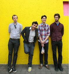 Vampire Weekend (from left: Chris Baio, Rostam Batmanglij, Ezra Koenig, Christopher Tomson) signed with XL Recordings in 2007.