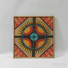 Paint-decorated Game Board | Sale Number 2765M, Lot Number 227 | Skinner Auctioneers