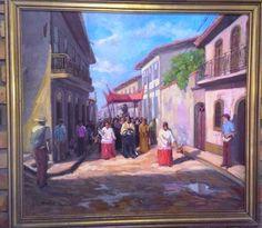 ROBERTO LEAL - PROCISSÃO RELIGIOSA - 1978 - OSM - Med: 65 X 50.  #Leilão ao Vivo 17/03 às 19:30 - Participe!