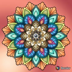 Pin by lynda seuss on mandalas in 2019 рисунки, раскраски, м Mandalas Painting, Mandalas Drawing, Dot Painting, Mandala Tattoo, Arm Tattoo, Tutorial Paint, Fabric Patterns, Embroidery Patterns, Vintage Clock Tattoos