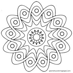 Mandala Coloring Pages Easy Printable Katibura