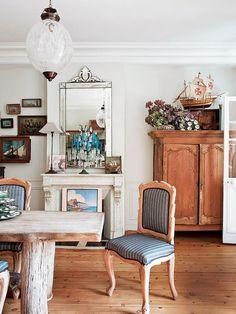 Una casa rústica con toques vintage (Francia)