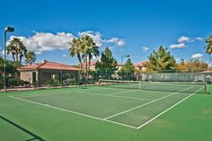 Tennis courts at San Melia Apartments