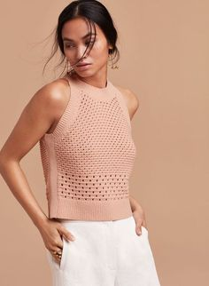Knitted trends spring / summer 2020 - Fair M . - Вдохновение - Knitted trends spring / summer 2020 – Fair M … – Вдохновение # - Crochet Tank, Knit Crochet, Wire Crochet, Summer Tops, Spring Summer, Summer Vest, Summer Knitting, Knit Fashion, Knitting Designs
