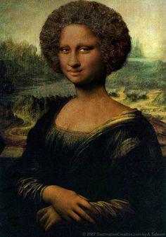 Monalisa Africana -- Mona Lisa Parodies #Joconde