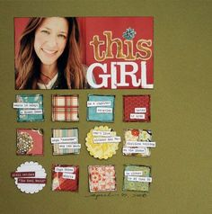A layout from 2008 from @Lisa Dickinson! I like the grid style and the color combination. :)
