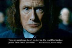 Bill Nighy as Rufus Scrimgeour, the Minister of Magic