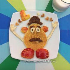 """101 mentions J'aime, 5 commentaires - Anne Widya (@anne2matthew) sur Instagram : """"#mrpotatohead, breakfast with peanut butter #apple nutella #foodart #kidsfood #anne2matthew"""""""