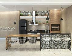 """3,555 curtidas, 69 comentários - •  Arquiteta de Interiores (@carolcantelli_interiores) no Instagram: """"Pq Domingo é dia de Área Gourmet ❤️ QueLindoQueLindoQueLindoooooo!! ❤️ Detalhe do Ladrilho que…"""""""