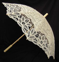 Beautiful lace umbrella.