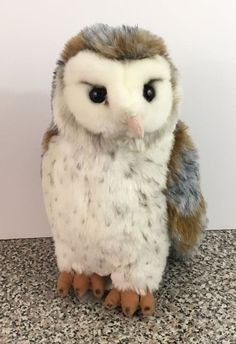 "Ganz Webkinz Signature Barn Owl Gold Foot WKS1042 Plush 11"" Stuffed Animal  #GANZ"