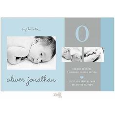 Blue Cotton Photo Card