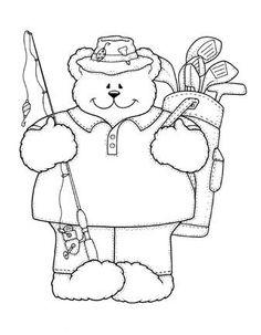Fishing, golfing, papa bear
