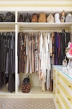 exactly how I organize my closet: by color :)
