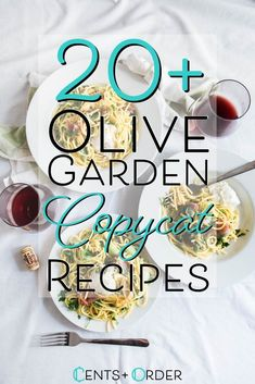 Save money and make your favorite Olive Garden restaurant recipes at home. This collection of copycat recipes is sure to satisfy! Olive Garden Pasta, Olive Garden Recipes, Frugal Meals, Frugal Recipes, Cat Recipes, Family Recipes, Tuscan Chicken Pasta, Copykat Recipes, Olive Gardens