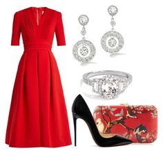 """Без названия #2630"" by claire-hamilton-bristol ❤ liked on Polyvore featuring Preen, Silvia Furmanovich and Christian Louboutin"