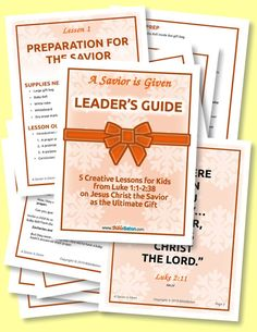 A Savior is Given: 5 Creative Bible Lessons for Kids on Jesus the Savior as the Ultimate Gift - This Christmas curriculum is perfect for teaching the birth of Christ to the children in your Sunday School class or children's church this Advent! Bible Study Guide, Bible Study Tools, Study Guides, Study Tips, Bible Lessons For Kids, Bible For Kids, Scripture Memorization, Bible Scriptures, Jesus Christus