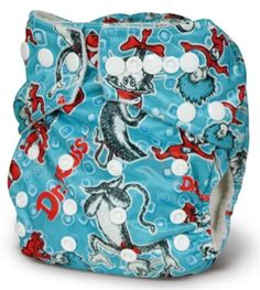 Bumkins One Size Stuff-It Pocket Diaper. Yes, it's Dr Sesuss. And yes, I WILL have this. With a red tutu if its a girl