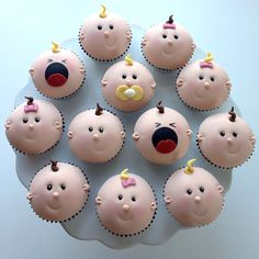 Baby cupcakes! These are so cute, the crying babies make me laugh!