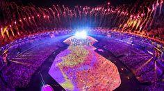 Olympia 2016 Feuerwerk im Stadion