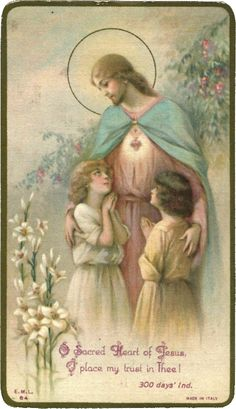 Oh! Sagrado Coração de Jesus, eu coloco minha confiança em Ti!