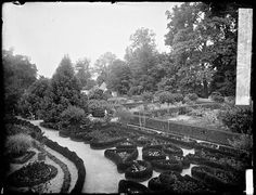 """A repeat """"Vintage"""" from 2012. . . I love this 1902 photograph of the Upper Garden at George Washington's home, Mount Vernon. It's so high Colonial Revival. Early American Ga…"""