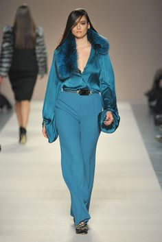 Image Detail for - Elena Miró // Fall 2012 RTW @ Milan Fashion Week // HiperFashion  Button the shirt and you got me! My signautre color!!