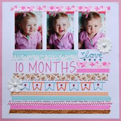 Scrapbooking trends layout featuring washi tape decorative tape