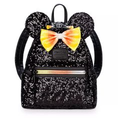 Mouse Sequin Mini Backpack by Loungefly – Candy Corn -Minnie Mouse Sequin Mini Backpack by Loungefly – Candy Corn - Cute for going to Disney world Ghoulish Gear For Your Next Disney Parks Visit Available Now Candy Corn, Fashion Bags, Fashion Backpack, Valentino 2017, Minnie Mouse Halloween, Halloween 2017, Halloween Stuff, Halloween Party, Corn Bags