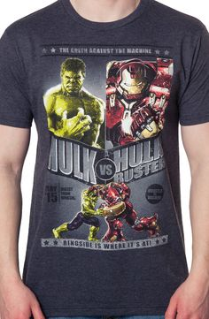 Hulk Vs Hulk Buster Shirt: Super Heroes Marvel Comics Avengers T-Shirt