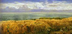 Pre Raphaelite Art: John Brett - Summer on the Cliffs