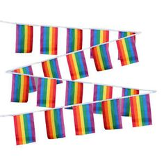 Gay Pride String Flags, Gay Pride Flags, Gay Pride Banners, Gay Pride Party Supplies, Gay Pride, Gay Wedding Flag, Gay Flag, Pride Flag by GayPrideCreations on Etsy