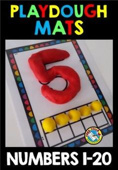 THESE PLAY DOUGH MATS ARE PERFECT TO REINFORCE NUMBERS AND THEIR VALUE AND ALSO TO ENHANCE FINE MOTOR SKILLS. This hands-on fun pack, containing 20 play dough mats, is an ideal resource for kids who are starting to learn their numbers. Children fill the numbers using play dough and then roll the corresponding number of play dough balls to fill in the ten/twenty frame.