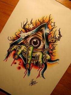 Broken Eye by itchysack.deviantart.com on @deviantART