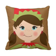 Christmas Cute Elves Party pillow