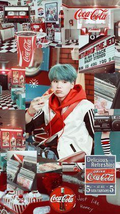 Plot twist all of BTS mvs are Coca Cola commercials Bts Suga, Min Yoongi Bts, Bts Bangtan Boy, Namjoon, Taehyung, Seokjin, Daegu, Vaporwave, Wallpapper Iphone