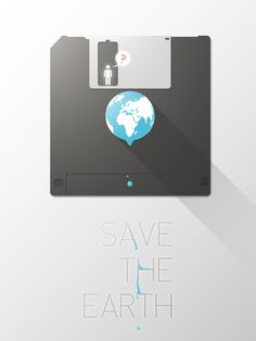Save the Earth concept by @kirp2014  #EarthDayPostersFTW @CreativeMarket