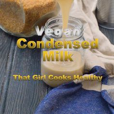 Vegan condensed milk Learn how to make your very own dairy free condensed milk<br> Easy two ingredient vegan condensed coconut milk Condensed Coconut Milk, Condensed Milk Recipes, Coconut Milk Recipes, Coconut Sugar, Dairy Free Recipes, Vegan Recipes, Gluten Free, Vegan Pregnancy, Girl Cooking