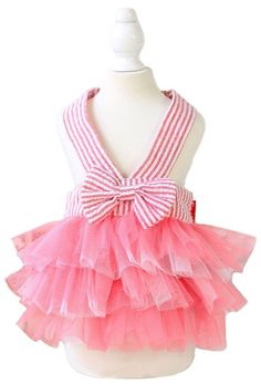 MaruPet Fashion Sweet Puppy Dog Love Printed Princess Skirt Pet Dog Pleated Camisole Tutu Dress *** You will love this! More info here : Costumes for dog